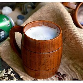 Wood Cup 350ml Classic Style Wooden Beer Mugs Drinking Tea Cup Home Drinkware