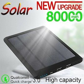 Waterproof Charger 80000mAh Solar Power Bank for Phone Solar Battery Charger