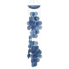 Garzon Contemporary Coconut Shell and Oyster Shells Wind Chime