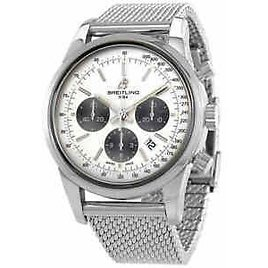 Breitling Transocean Chronograph Automatic Silver Dial Men's Watch AB0152121G1A1