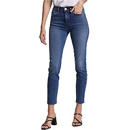 Barbara High-Waist Super Skinny Ankle Jeans in Surpass