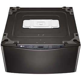 LG Electronics 27 In. 1.0 Cu. Ft. SideKick Pedestal Washer with TWINWash System Compatibility in Black Steel-WD100CB