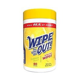 Wipe Out! Antibacterial Wipes Lemon + Free Shipping