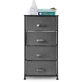 Bigroof Dresser Storage Organizer, Fabric Drawers Closet Shelves for Bedroom Bathroom Laundry Steel Frame Wood Top with Fabric B