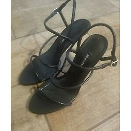 Strappy Sandal Heels Nine West Leather Upper & Insole Shoes New Classy & Sexy!