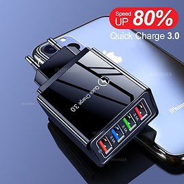 |USB Charger Quick Charge 3.0 4.0 QC3.0 Fast Charging Mobile Phone Charger For IPhone X Sams