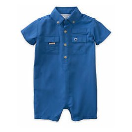 Crown & Ivy™ Baby Boys Southern Themed Fishing Romper