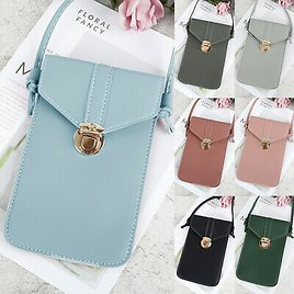 Women Touch Screen PU Leather Cross-body Mobile Phone Bag Shoulder Purse Wallet