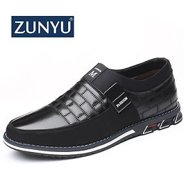 40% OFF|ZUNYU Plus Size 38 46 NEW 2019 Genuine Leather Men Casual Shoes Brand Mens Loafers Moccasins Breathable