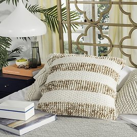 Freeburg Loop and Weaved Throw Pillow 36%off