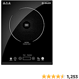 Portable Induction Cooktop, ISiLER 1800W Sensor Touch Electric Induction Cooker Cooktop with Kids Safety Lock, 18 Power 17 Temperature Setting Countertop Burner with Timer