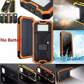 100000mAh 2USB Solar Power Bank Pack-External Battery Charger for Cell Phone US