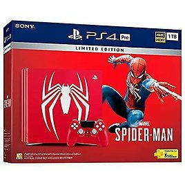 Limited Edition Marvel Spiderman PlayStation 4 Pro Console 1TB (PS4) BOXED C-104