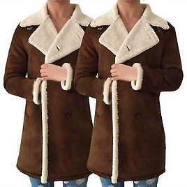 Mens Winter Warm Wool Trench Coat Single Breasted Long Jacket Overcoat Clothes
