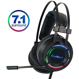 US $19.86 15% OFF 7.1 Gaming Headset Headphones with Microphone for PC Computer for Xbox One Professional Gamer Earphone Surround Sound RGB Light Headphone/Headset  - AliExpress