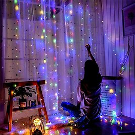 US $11.3 44% OFF|300 LED 8 Modes Window Curtain String Light Fairy Lights Wedding Party Home Garden Bedroom Outdoor Indoor Wall Decoration|LED String| - AliExpress