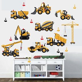 US $3.11 19% OFF Cartoon Tractor Wall Stickers DIY Transport Cars Wall Art Decal Decoration for Kids Rooms Boys Girls Children Bedroom Home Decor Wall Stickers  - AliExpress