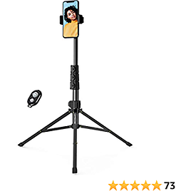 Phone Tripod,LETSCOM 67-inch Extendable Selfie Stick Tripod Stand with Phone Holder,Remote Shutter for Video Recording/Photography/Live Streaming,Compatible with IPhone & Android Phone & Camera