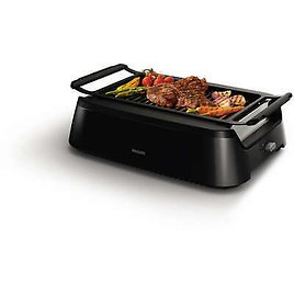 Philips Avance Collection Indoor Smoke-Less Grill, Black - HD6371/94 75020052575