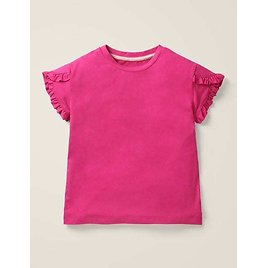 Frill Wrap Sleeve Top - Pink Yarrow   Boden US