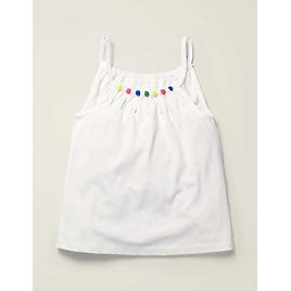 Bead Detail Jersey Top - White   Boden US