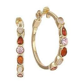 Laundry By Shelli Segal - Pacific Pastels Multicolor Stone Hoop Earrings