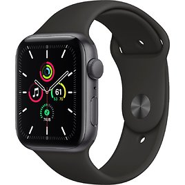 Apple Watch SE (GPS) 44mm Space Gray Aluminum Case with Black Sport Band Space Gray MYDT2LL/A