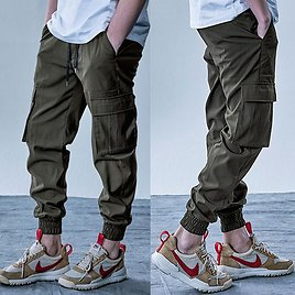 US $13.99 50% OFF Mens Cargo Pants Elastic Multiple Pocket Military Male Trousers Outdoor Joggers Pant Joggers Trousers Fashion Harajuku Men Pants Cargo Pants  - AliExpress