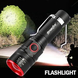 T6 Super Bright Flashlight Rechargeable Outdoor Light Lamp Zoomable Torch Light