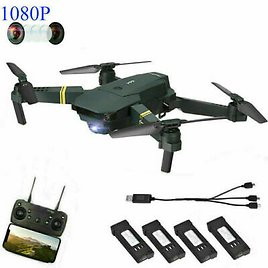 Drone X Pro Foldable Quadcopter WIFI FPV with 1080P HD Camera +3 Extra New