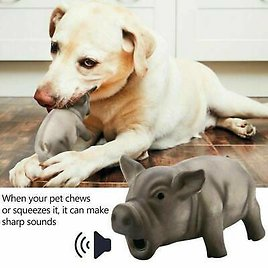 Pig Toy Grunting Squeaky Rubber Pet Puppy Chew Squeaker Sound Funny Dog