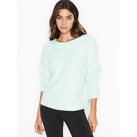 Slouchy Embellished Fuzzy Pullover - Victoria's Secret - Vs
