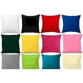"""Plain 100% Pure Cotton Cushion Cover ** Available 10"""" to 24"""" Sizes **"""