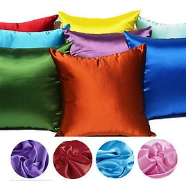 New Comfortable Square Home Sofa Decor Pillow Cover Case Satin Cushion Covers