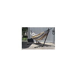 Outdoor Double Cotton Hammock Desert Moon with 9 Ft. Stand   Ashley Furniture HomeStore
