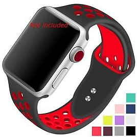 Perforated Silicone Watch Strap Band For Apple IWatch 1 2 3 4 5 38/40 42/44 Mm