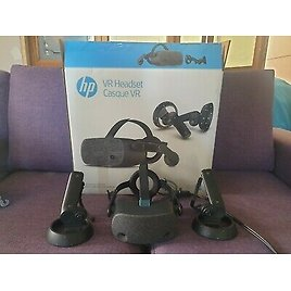 HP Reverb VR Headset, 4K Virtual Reality, Windows Mixed Reality, SteamVR, Vive