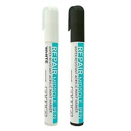 Trainer Shoe Paint Pen WHITE & BLACK KIT for Trainers Shoes Sneakers Whitener
