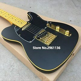 Electric Guitar Basswood Body with Maple Neck Black Matte Paint Free Shipping