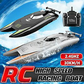 2.4G High Speed Remote Control RC Boat Electric Racing Ship Kids Water Model Toy