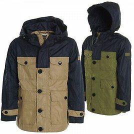 Kids Boys Winter Outdoor Rain Hooded Quilted Transition Jacket Coat Jackets