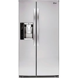 LG 26.2 Cu. Ft. Side-by-Side Refrigerator with Thru-the-Door Ice and Water Stainless Steel LSXS26326S