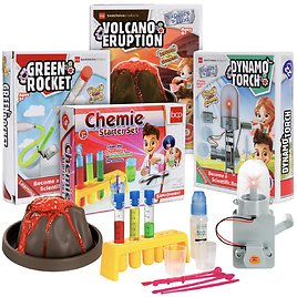 4-in-1 Science Project Kit, STEM & STEAM DIY Lab Experiments for Kids
