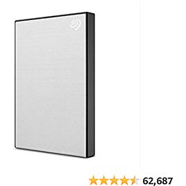 Seagate One Touch 1TB External Hard Drive HDD – Silver USB 3.0 for PC Laptop and Mac, 1 Year MylioCreate, 4 Months