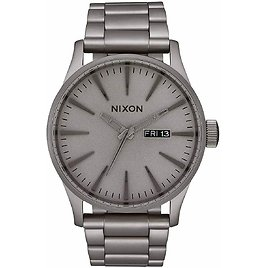 Nixon Men's Sentry SS A3563166-00 42mm Gray Dial Stainless Steel Watch for Sale Online