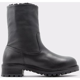 Yeraveth Black Leather Smooth Women's Ankle Boots & Booties | ALDO US