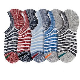 Invisible Boat Socks For Men Short Cotton Blends Low Cut Foot Protection 5Pcs