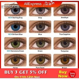 US $4.09 59% OFF|EYESHARE 2pcs/pair 3 Tone Series Colored Contact Lenses for Eyes Colored Eye Lenses Color Contacts|Contact Lenses| - AliExpress