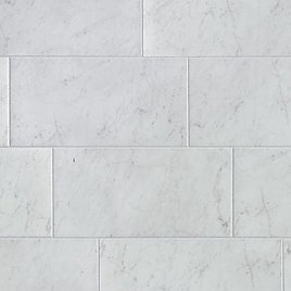 Style Selections Futuro White 12-in X 24-in Glazed Porcelain Marble Look Tile Lowes.com