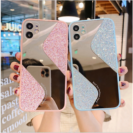 Glitter Bling Case For IPhone 12 Pro Max 11 7 SE Xr Shockproof Soft Mirror Cover